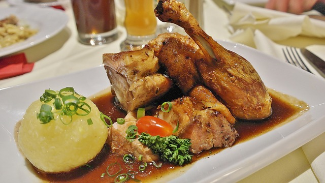 German Filled Roasted Duck