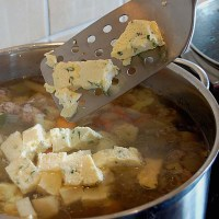 German Egg Croutons - Eierstich for Soups