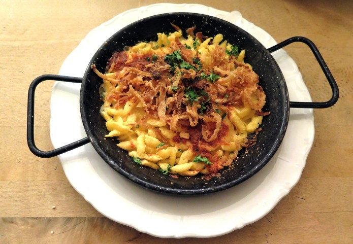 authentic cheese spaetzle