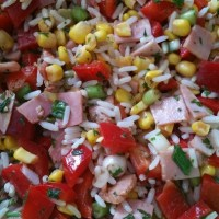 German Rice Salad - Simple and Easy