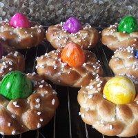 Little German Easter Sweet Bread Nests