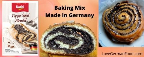 Poppyseed strudel baking mix
