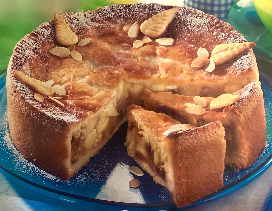classic german apple cake covered