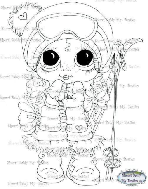 Instant Download Ski Girl Bestie Snow Board Barb My