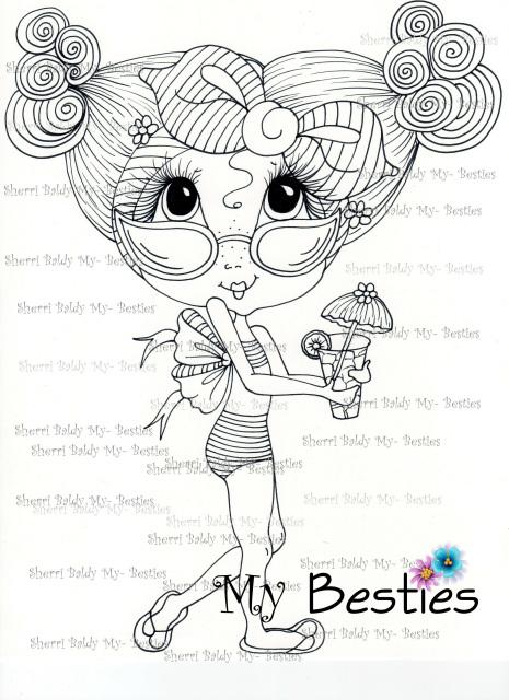 Summer FUN! Bestie img053 Instant download Sherri Baldy My