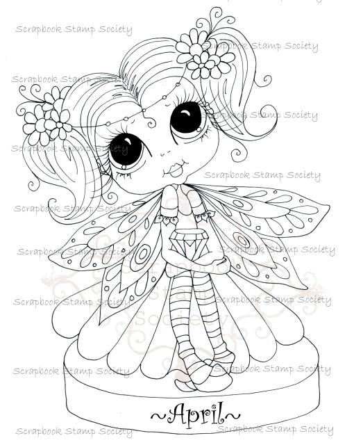 Birthstone Besties April digi stamp Sherri Baldy img719