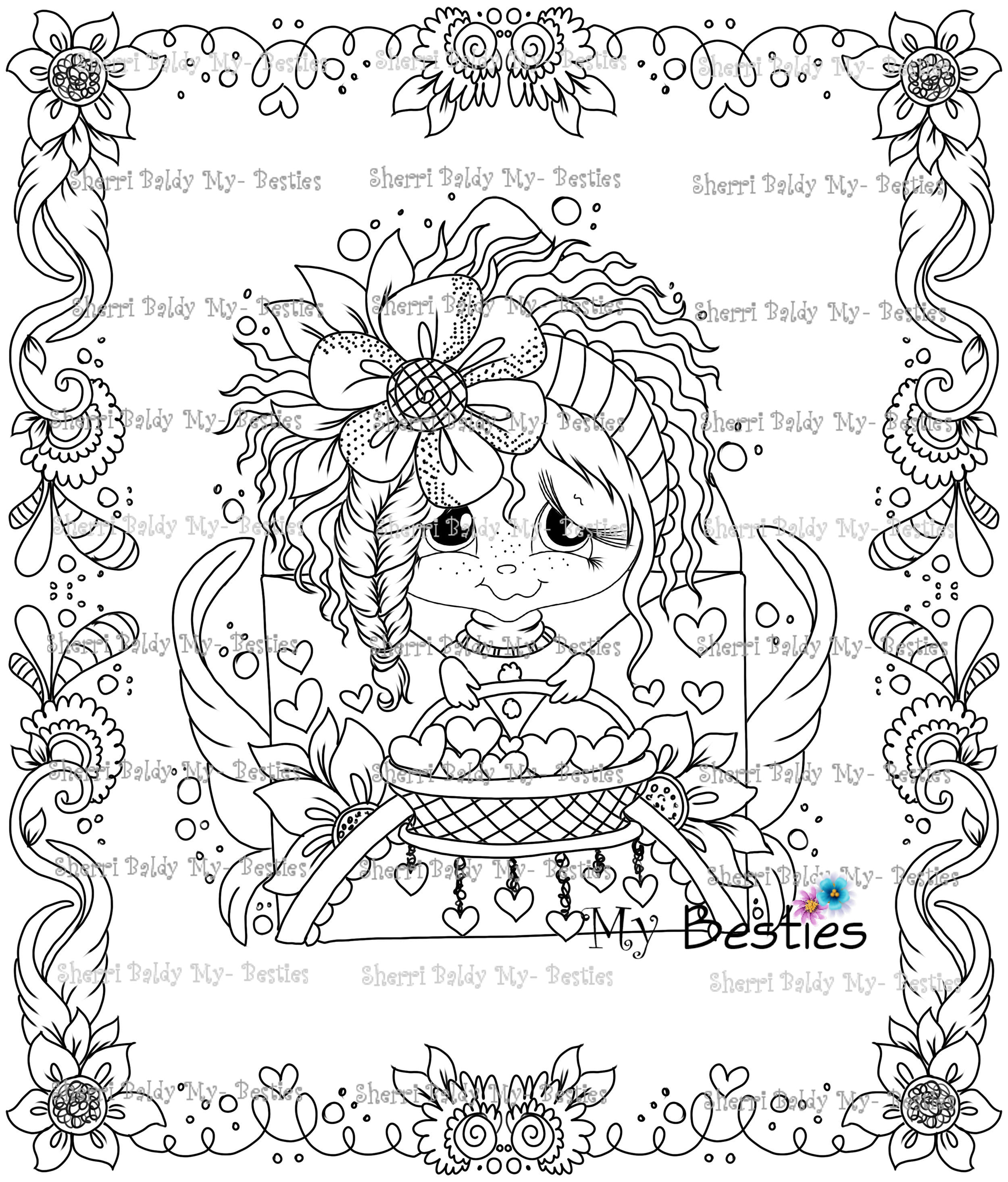 Instant Download My Besties Coloring Page Doll 22~Digi
