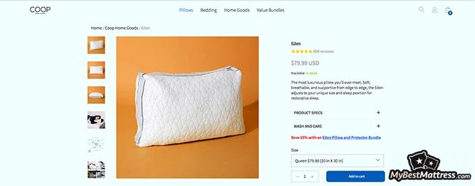 coop home goods pillow review