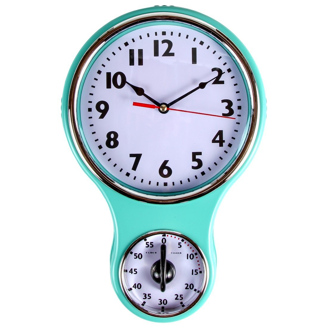 retro kitchen wall clock stainless steel restaurant cabinets lily 39s home timer bell shape