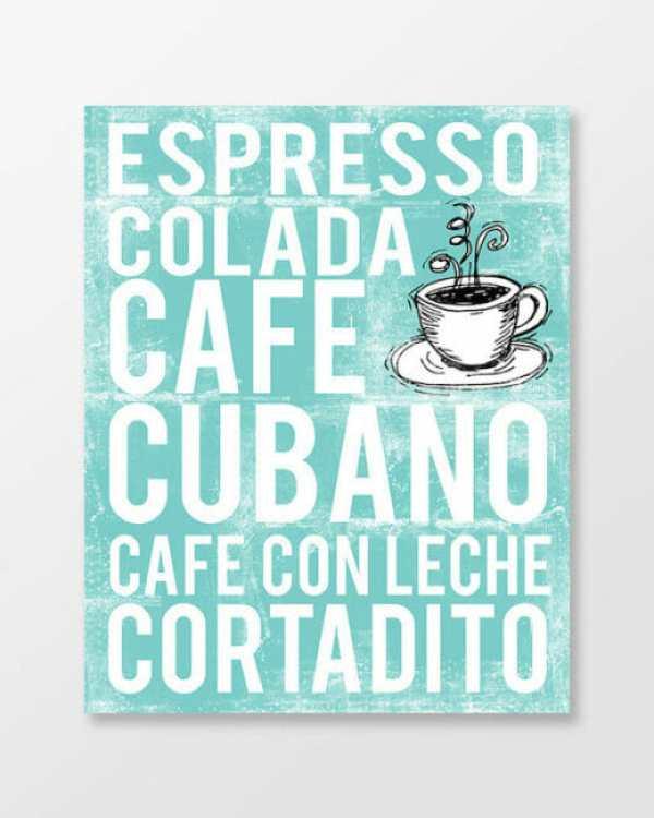 Cuban Coffee Poster