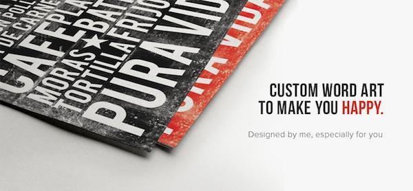 Custom word art and custom subway art by Marta Darby Designs