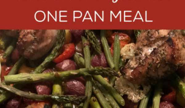 Honey Balsamic Chicken and Veggie One Pan Meal