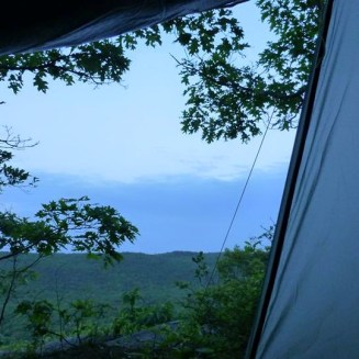 My view from my tent tonight.
