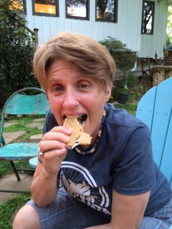 Yumm. I'm biking 200 miles so I can eat whatever I want (Debra Sydney Snell)