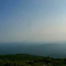 View from White Cap Mountain. ... Katahdin is hiding