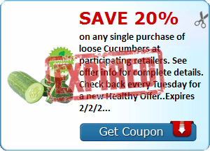 SavingStar: Save 20% on Cucumbers