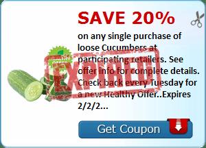 SavingStar: Save 20% on Cucumbers