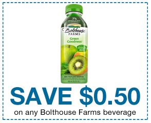 Save .50 on Any Bolthouse Farms Beverage