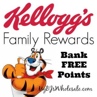 Kellogg's Family Rewards: Bank 25 Points