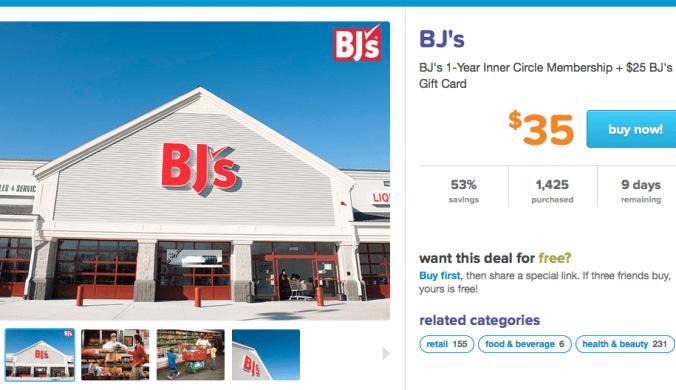 LivingSocial: BJs Membership Only $35 + FREE $25 Gift Card! ($75 Total Value)