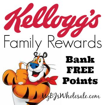 Kellogg's Family Rewards Codes: Bank 125 Points