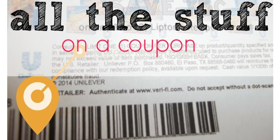 how to understand coupons wording