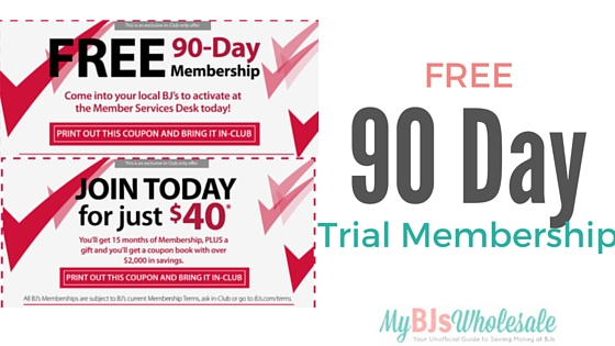 free 90 day bjs membership