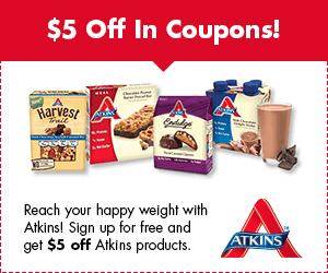 atkins $5.00 off coupon