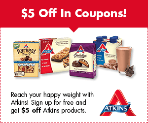 atkins $5.00 off coupon