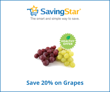 save 20% on grapes