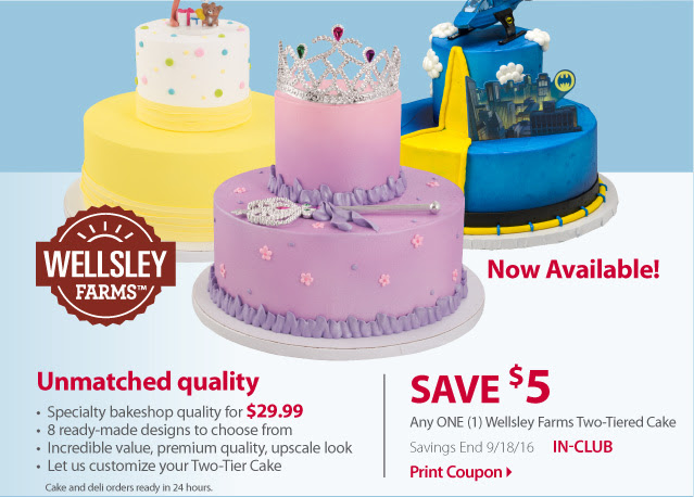 Print a $5 Coupon for BJ's new two-tiered cake | MY BJ'S WHOLESALE