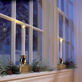 Berkley Jensen LED Window Candles, 4 pk. ONLY $17.99