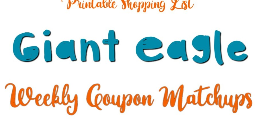 Giant Eagle Weekly Coupon Matchups