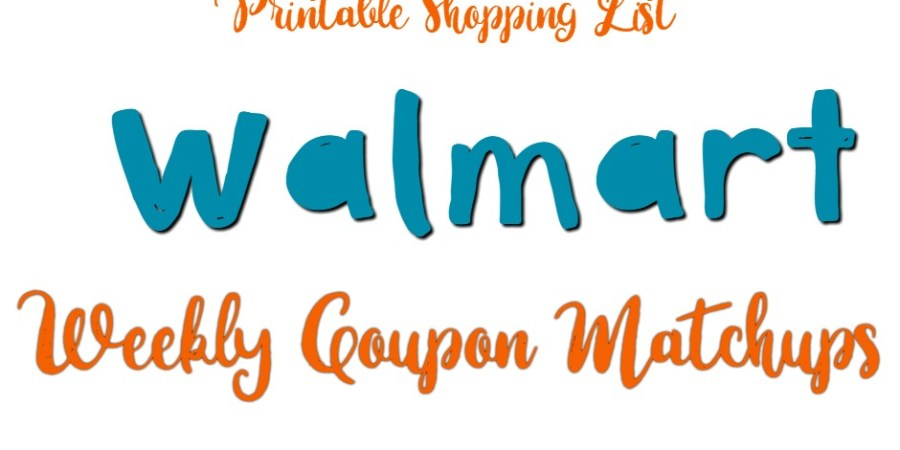 Walmart Weekly Coupon Matchups