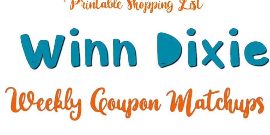 Winn Dixie Weekly coupon matchups