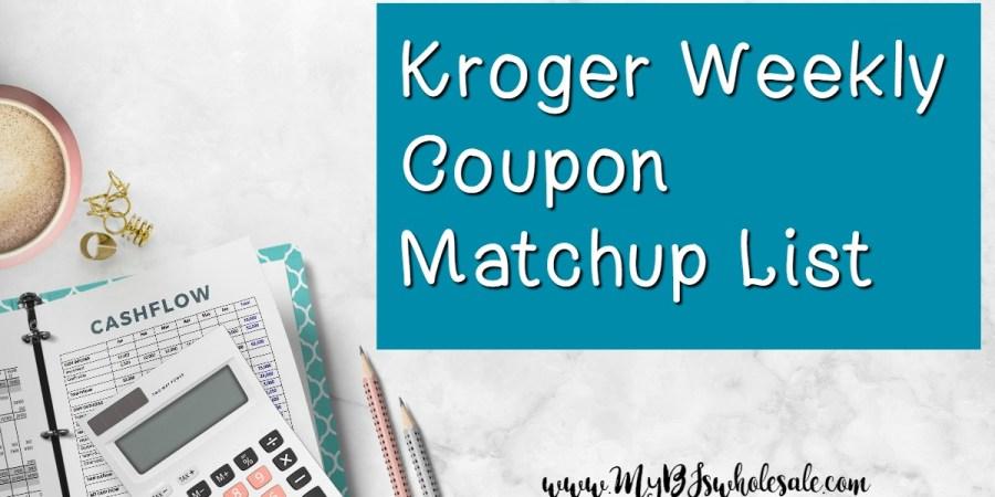 Kroger Weekly Coupon Matchups