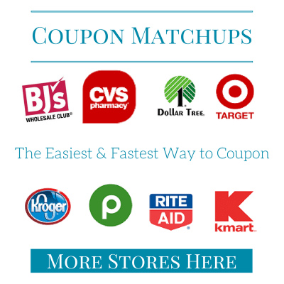 20 store coupon matchup list and best deals