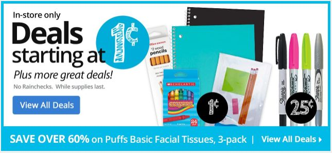 penny deals at office depot school supplies