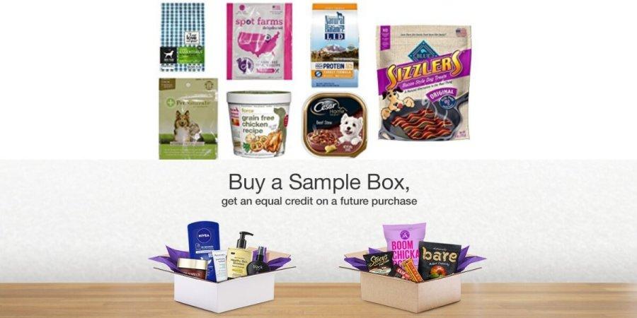 amazon prime dog food sample box free