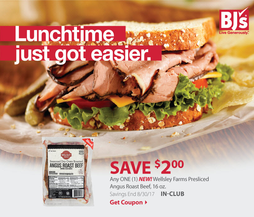 wellsley farms roast beef BJs coupon to print