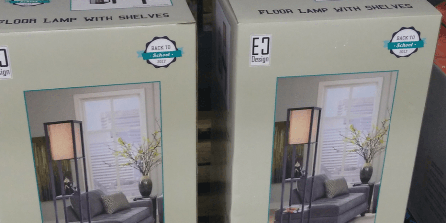 floor lamp with three shelves price and deal at BJs