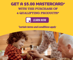 earn a $5 mastercard wyb SC Johnson items