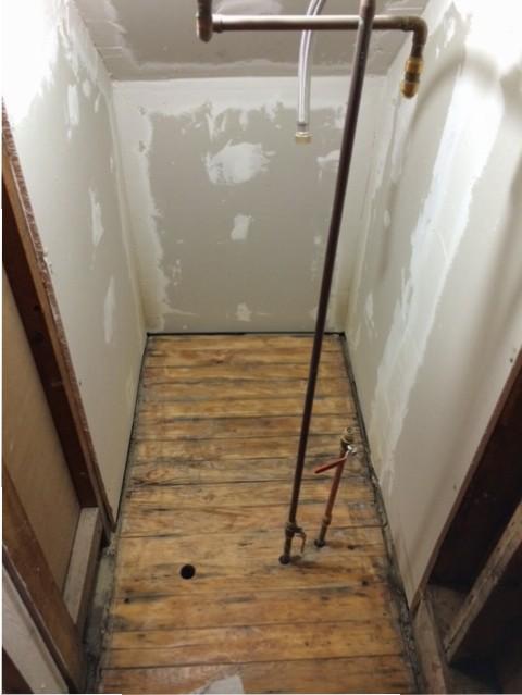 closet floor sanded