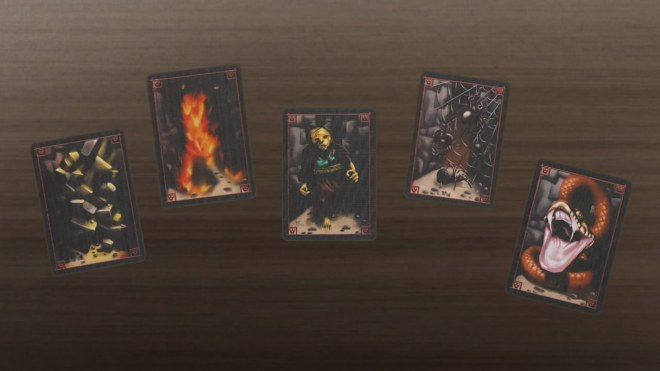 Incan Gold's hazard cards
