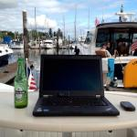work from boat telecommute