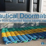 Nautical Doormats Made from Reclaimed Maine Lobster Rope