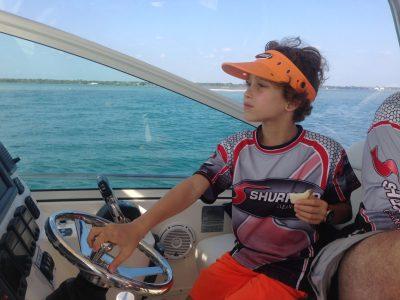 teaching kids boat