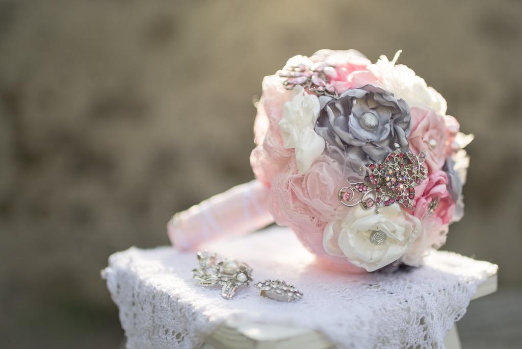 Brautstrau rosagrau  My Bouquet