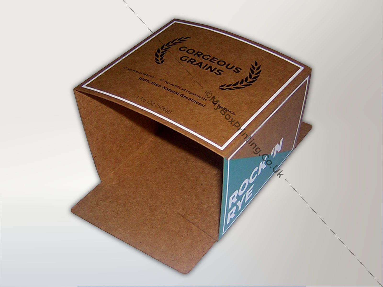 300 GSM Kraft Card Sleeves Printed in 3 Colour  My Box