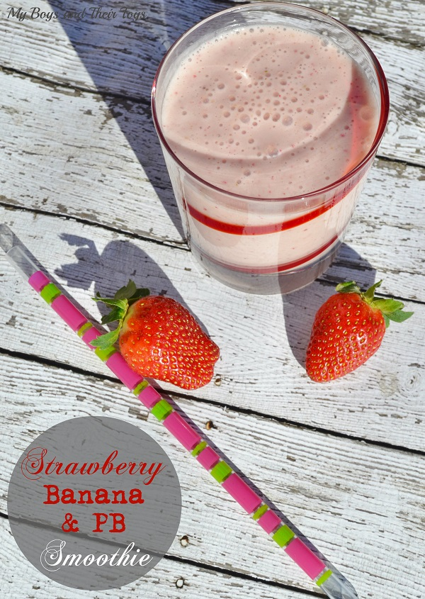 Strawberry banana & pb smoothie